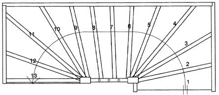Twee kwarter for Binnenhuis trappen